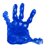 Blue Child Hand Track Royalty Free Stock Images