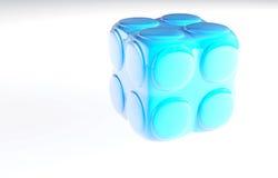 Blue child's block Stock Image
