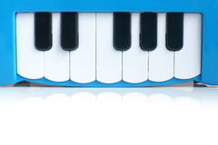 Blue child's piano Stock Photo