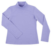 Blue child turtleneck. Isolated on white Royalty Free Stock Photography