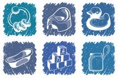 Blue children icons Stock Photos