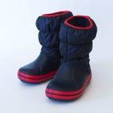 Blue children rain boots Stock Images