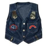 Blue children's denim vest Stock Photography