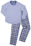 Blue children's pajamas. Isolated on a white Royalty Free Stock Image
