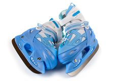 Blue children's  skates Stock Image
