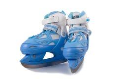 Blue children's  skates Stock Photo