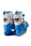 Blue children's  skates Stock Images
