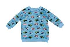 Blue children`s sweatshirt Royalty Free Stock Photography
