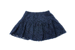 Blue children skirt, isolated Royalty Free Stock Images