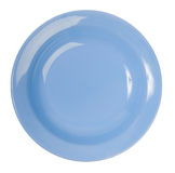 A blue china plate. On white Stock Image