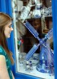 Blue China Shop Stock Photography