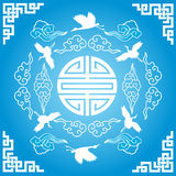 Blue Chinese background Stock Photography