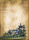 Blue chinese dragon, sepia vintage Royalty Free Stock Image