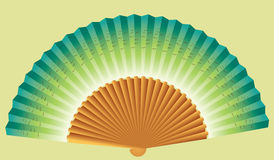 Blue Chinese fan Royalty Free Stock Photo