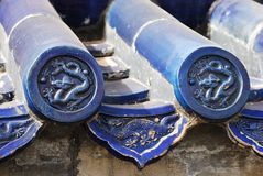 Blue Chinese Roof Tiles Royalty Free Stock Images