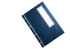 Blue Chinese-style notebook ,isolated on white Stock Images