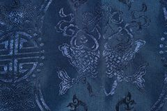 Blue Chinese traditional Fabric Royalty Free Stock Images