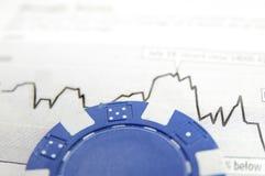 Blue chip stocks Royalty Free Stock Photos