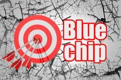 Blue Chip Wort mit rotem Pfeil und Brett vektor abbildung