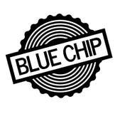 Blue Chip znaczek na bielu ilustracja wektor