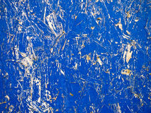 Blue Chipboard Grunge Background. Scratched blue wood chipboard - abstract grunge texture Stock Photography