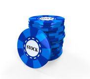 Blue Chips Stock Stock Photo