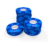 Blue Chips Stock Stock Photos
