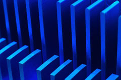 Blue chipset heatsink Stock Photography
