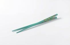 Blue chopsticks Stock Photos