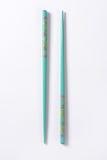 Blue chopsticks Royalty Free Stock Images