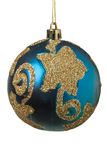 Blue christams bauble  isolated Stock Image