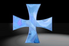 Blue Christian cross Royalty Free Stock Photo