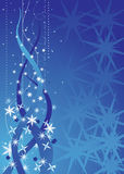 Blue christmas abstract Royalty Free Stock Photos