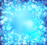 Blue christmas abstract background Royalty Free Stock Image