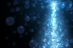 Blue Christmas abstract background. Royalty Free Stock Images
