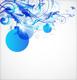Blue Christmas abstract background Royalty Free Stock Photos