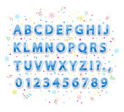 Blue Christmas alphabet Royalty Free Stock Photos