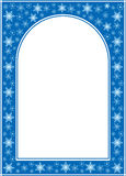 Blue christmas vector frame with white center Stock Photos