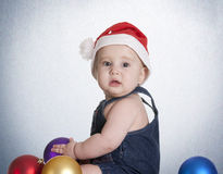 Blue christmas baby Stock Photography