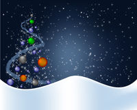 Blue christmas background Stock Image