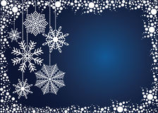 Blue Christmas background. Royalty Free Stock Photo