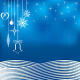 Blue Christmas background. Stock Photos