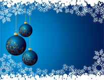 Blue christmas background Stock Photos