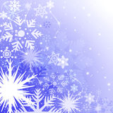 Blue Christmas background. With snowflakes - illustration Stock Photo