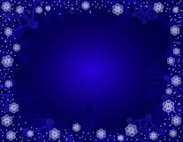 Blue christmas background. Stock Image