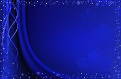 Blue christmas background. Blue christmas background with snowflakes Royalty Free Stock Image