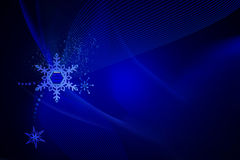 Blue christmas background. With Decoration royalty free illustration