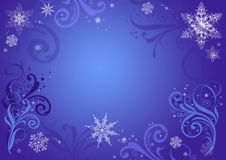 Blue Christmas background. With snowflakes vector illustration