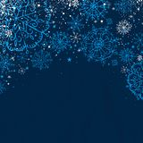 Blue christmas background,  Stock Photography