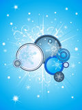 Blue  christmas background Royalty Free Stock Images